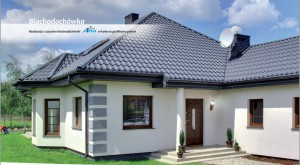 Dom z dachówką z blachy